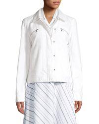 Lafayette 148 New York - Kesha Denim Jacket - Lyst