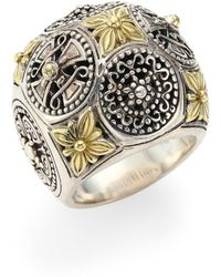 Konstantino - Penelope Sterling Silver & 18k Yellow Gold Ring - Lyst
