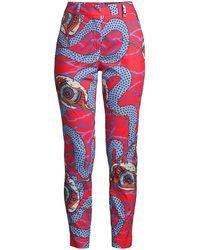 Stella Jean Slim Printed Pants - Red