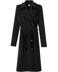 Burberry Kensington Cashmere Double-breasted Coat - Black