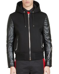 Givenchy | Mixed Media Hoodie | Lyst