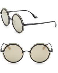Le Specs - Ovation Matte Black & Gold Sunglasses - Lyst