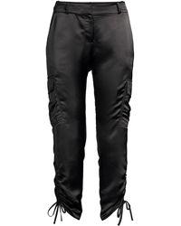 Parker Emerson Satin Cargo Pants - Black
