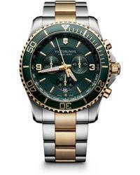 Victorinox Maverick Chrono Two-tone Stainless Steel Watch - Multicolor