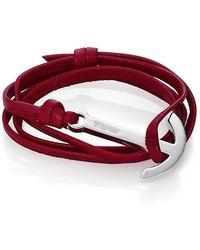 Miansai Modern Anchor Leather Wrap Bracelet - Purple