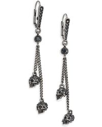 Alexander McQueen - Thin Chain Earrings - Lyst
