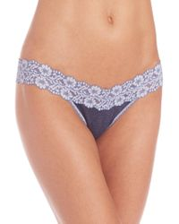 Hanky Panky - Heather Low-rise Thong - Lyst