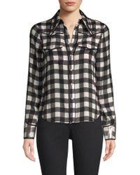 Alice + Olivia - Caleb Western Check Plaid Shirt - Lyst