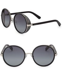 99e043c90e1 Jimmy Choo - Andie 54mm Round Crystal-detail Sunglasses - Lyst