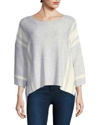 Splendid - Stripe Knit Pullover - Lyst