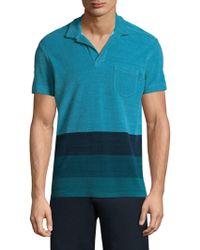 Orlebar Brown - Colorblock Cotton Polo - Lyst