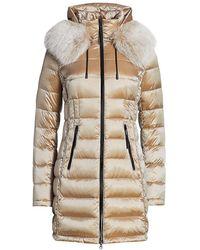 Saks Fifth Avenue Fox Fur-trim Hooded Down Parka - Natural