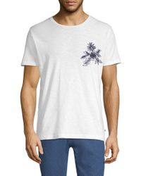 Bonobos - Slim-fit Floral Chainstitch Chest Tee - Lyst