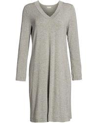 Hanro Champagne Long Sleeve Sleep Dress - Gray