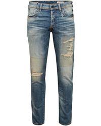 G-Star RAW D-g Bleid Slim Vintage Faded Distressed Jeans - Blue