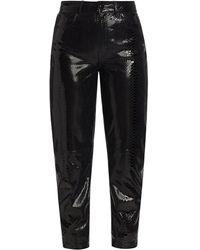 REMAIN Birger Christensen Elsa Cropped Leather Pants - Black