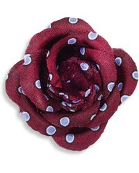 Hook + Albert - Polka Dots Lapel Flower - Lyst