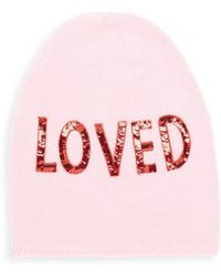 7b74eca6b64 Gucci - Women s Loved Sequin-embroidered Wool Hat - Rose - Size Small - Lyst
