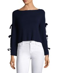 MILLY - Split Sleeve Pullover - Lyst