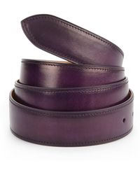 Corthay | Aubergine Patina French Leather Belt | Lyst