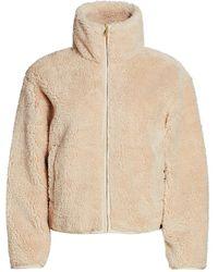 Varley Highwood Faux-sherpa Cropped Jacket - Natural
