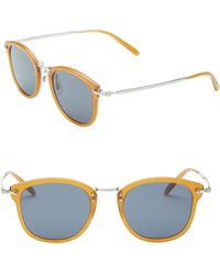 ee4cc31939d Oliver Peoples - Amber 49mm Square Sunglasses - Lyst