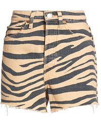 RE/DONE 50s Tiger Cutoff Shorts - Multicolor