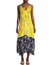 Tanya Taylor - Everly Garden Print Midi Dress - Lyst