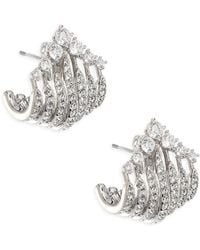 Adriana Orsini - Greta Wrap Crystal Earrings - Lyst