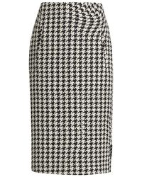 Off-White c/o Virgil Abloh Houndstooth Circle Pencil Skirt - Black
