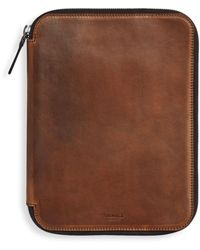 Shinola Leather Tech Portfolio - Brown