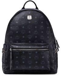 MCM Medium Stark Visetos Backpack - Black