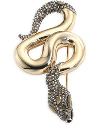 Alexis Bittar - Elements Crystal Snake Pin - Lyst