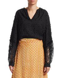 Rachel Comey - Waver Lace Combo Long Sleeve Top - Lyst