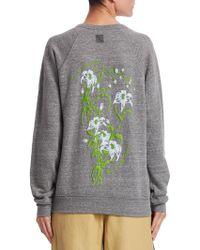 Rosie Assoulin | Puff Paint Floral Sweatshirt | Lyst