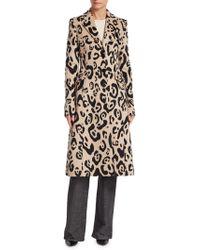 Altuzarra - Leopard Print Wool-cashmere Coat - Lyst