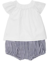 Ralph Lauren Baby Girl's Two-piece Cotton Top & Bloomers Set - White
