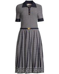 Tory Burch Gemini Link Jacquard Dress - Blue