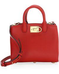 Ferragamo - The Studio Mini Leather Satchel Bag - Lyst ed3cc413c40e1