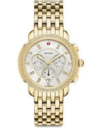 Michele Sidney Mother-of-pearl & Stainless Steel Chronograph Watch - Metallic