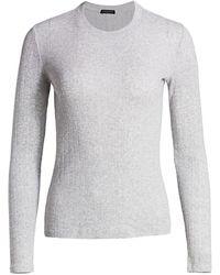 Rag & Bone Pointelle Pinstripe Rib-knit Pullover - Gray