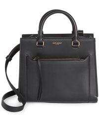 b0bd1fbab1e1 Saint Laurent - Women s Baby East Side Cabas Top Handle Bag - Black - Lyst