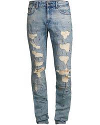 PRPS Le Sabre Slim-fit Destroyed Jeans - Blue