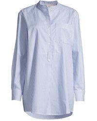 Tory Burch Striped Oxford Shirt - Blue