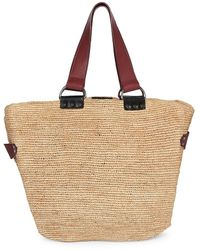 Isabel Marant Bahiba Leather-trimmed Straw Tote - Natural
