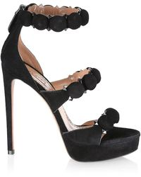 Alaïa Suede High Heel Sandals Black