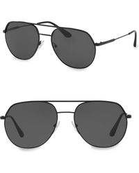 Prada - Double Bridge Metal Aviators - Lyst