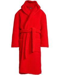Balenciaga Hooded Bath Robe - Red