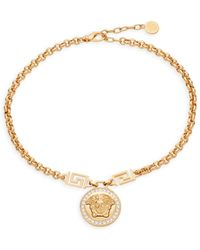Versace - Medusa Crystal Necklace - Lyst