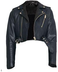 IRO Denali Cropped Moto Leather Jacket - Black